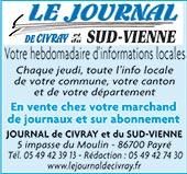 pub LE JOURNAL DE CIVRAY (NOUVELLE DIRECTION)