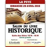 pub SALON DU LIVRE HISTORIQUE - 29 AVRIL 2018